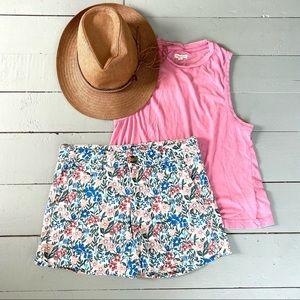 AE floral super stretch shorts